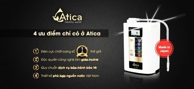 Máy lọc nước ion kiềm Atica Gold được nhiều khách hàng tin dùng nhờ sở hữu nhiều ưu điểm nổi bật