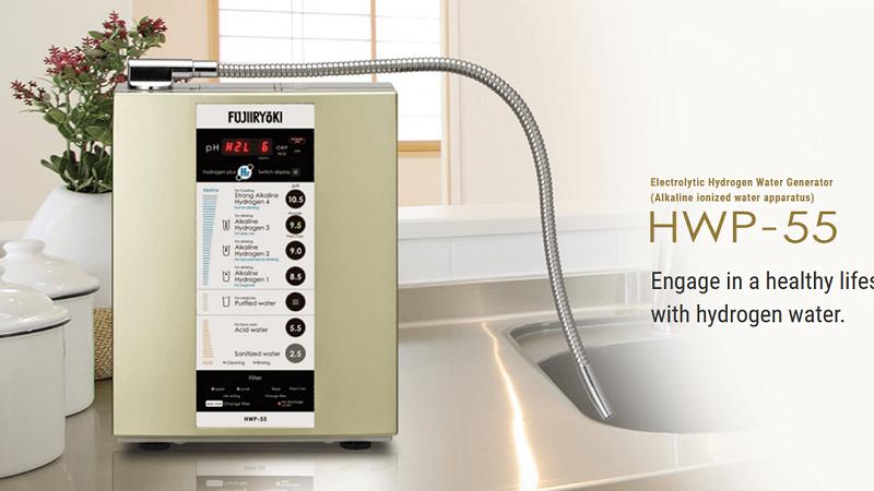 Máy lọc nước Hydrogen Fujiiryoki HWP-55 được nghiên cứu và sản xuất bởi hãng Fujiiryoki