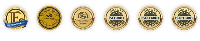 Các chứng nhận mà Kangen SD501 Platinum đã đạt được