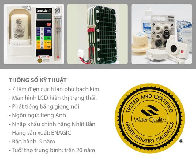 Thông số kỹ thuật máy lọc nước Kangen SD501