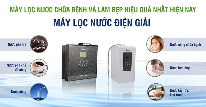 Địa chỉ bán máy lọc nước điện giải ion kiềm uy tín tại TP.HCM