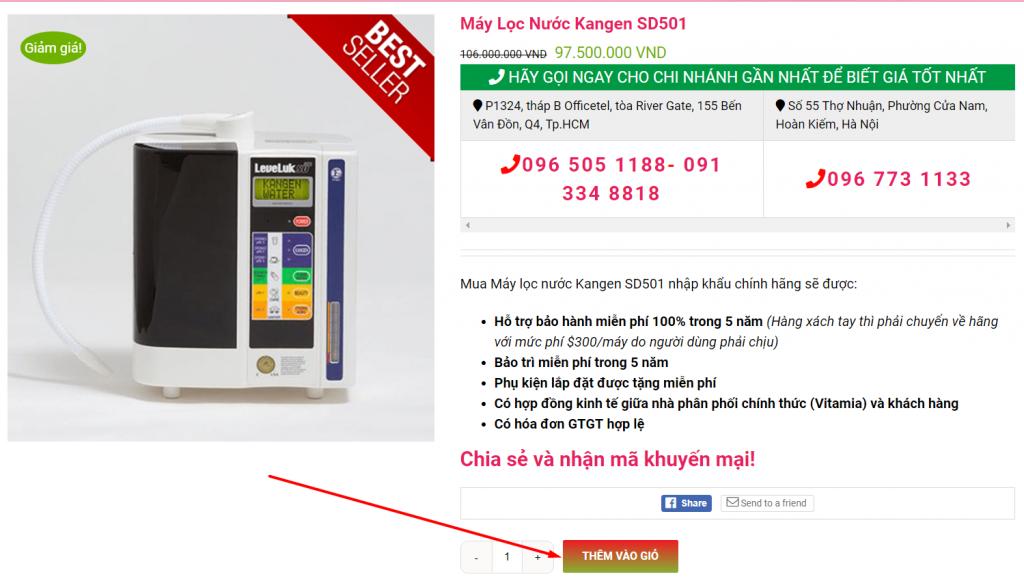 , Hướng dẫn mua hàng, Nhà phân phối máy lọc nước ion kiềm số 1 Việt Nam | Vitamia