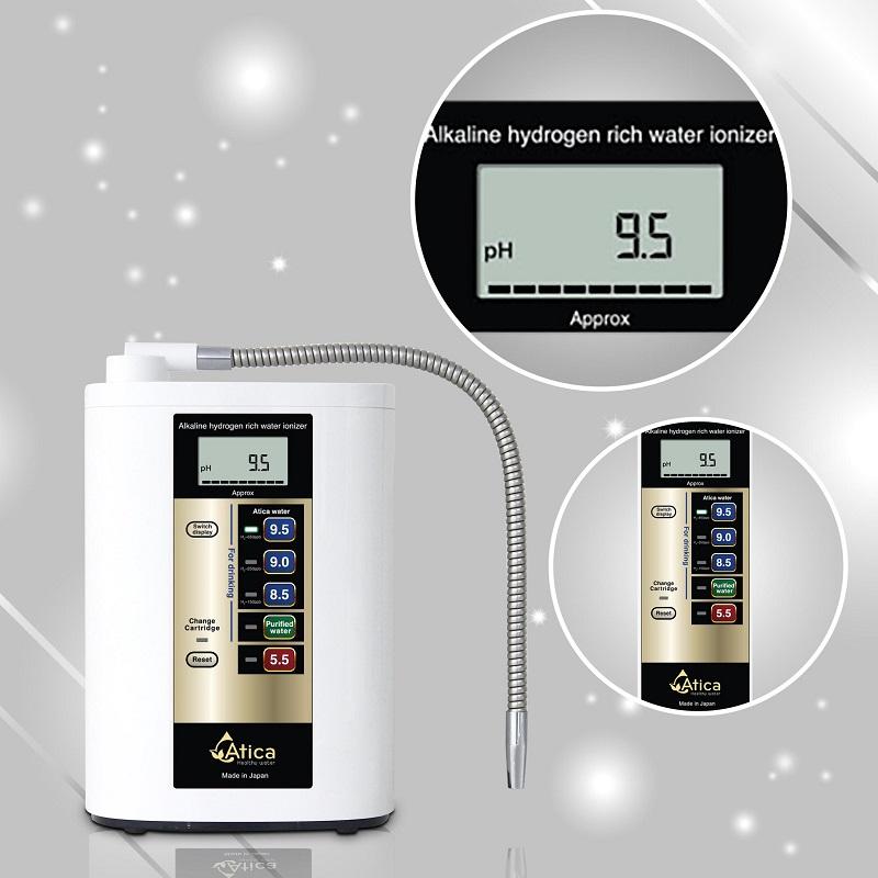 Mẫu máy Atica Silver có khả năng tạo nước giàu hydro với 5 chế độ nước
