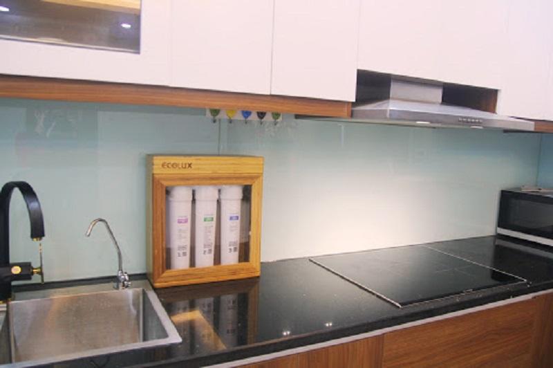 Máy lọc nước GEYSER ECOLUX A của Nga trong căn bếp của một gia đình