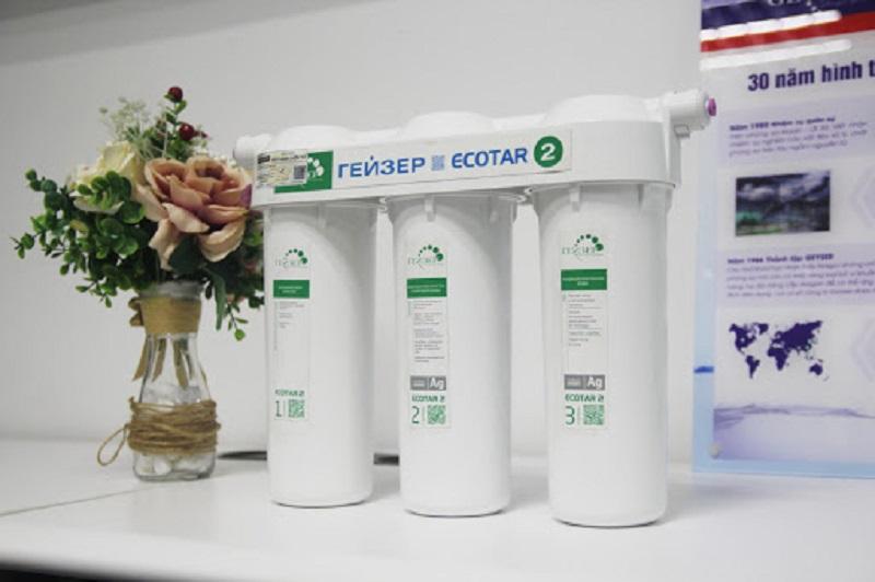 Máy lọc nước nano GEYSER ECOTAR 2 của Nga thiết kế phù hợp với mọi gia đình