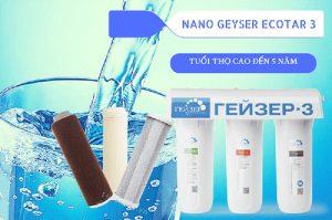 Máy lọc nước nano GEYSER ECOTAR 3 từ Nga giúp tiết kiệm điện nước triệt để