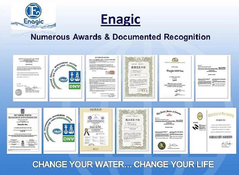 Các chứng nhận của bình xịt nước Strong Acidic 2.5pH