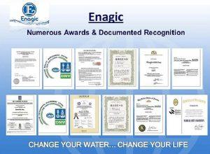 Enagic được cấp chứng chỉ ISO 9001 về quản lý chất lượng và ISO 14001 quản lý môi trường