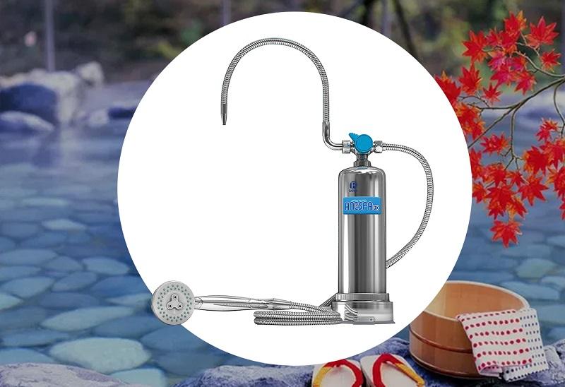 Hệ thống vòi sen và vòi massage ở máy tắm Kangen thiết kế rất linh hoạt