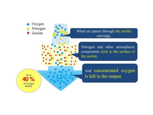 Quy trình tạo khí oxy tươi ở máy Vigo OXY'Z