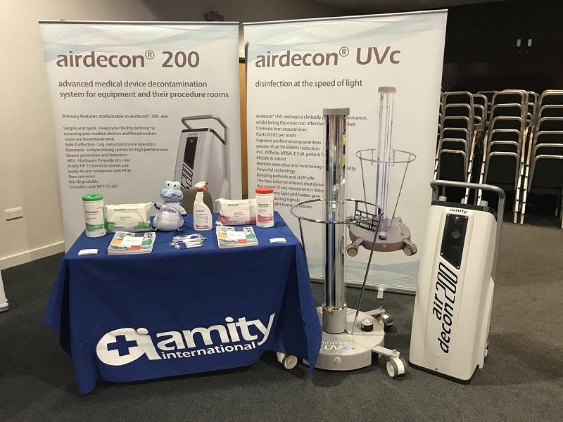 Máy khử trùng không khí Airdecon UVc là dòng thiết bị do Amity International nghiên cứu và sản xuất
