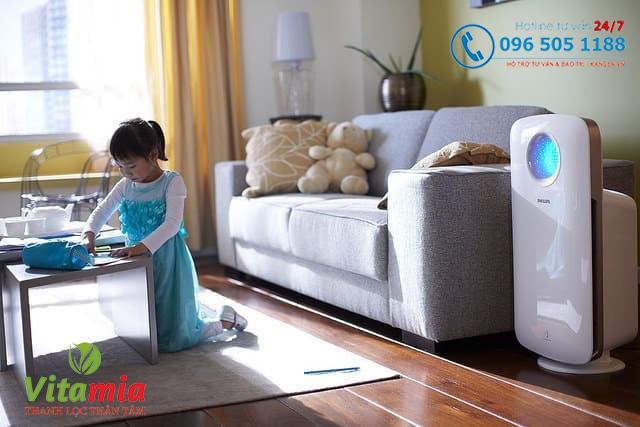 Nên lắp đặt máy lọc không khí cho không gian nhà ở, đặc biệt là có trẻ nhỏ