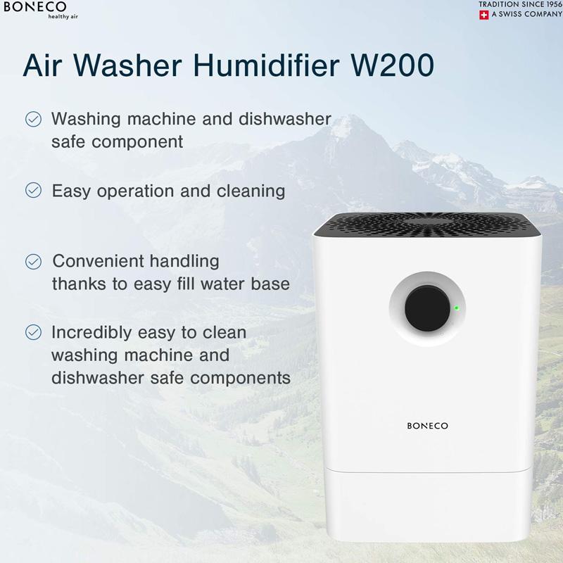Máy tạo ẩm kết hợp làm sạch không khí BONECO W200