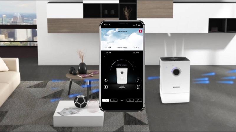 BONECO đã xây dựng một ứng dụng hỗ trợ điều khiển thiết bị thông qua smartphone