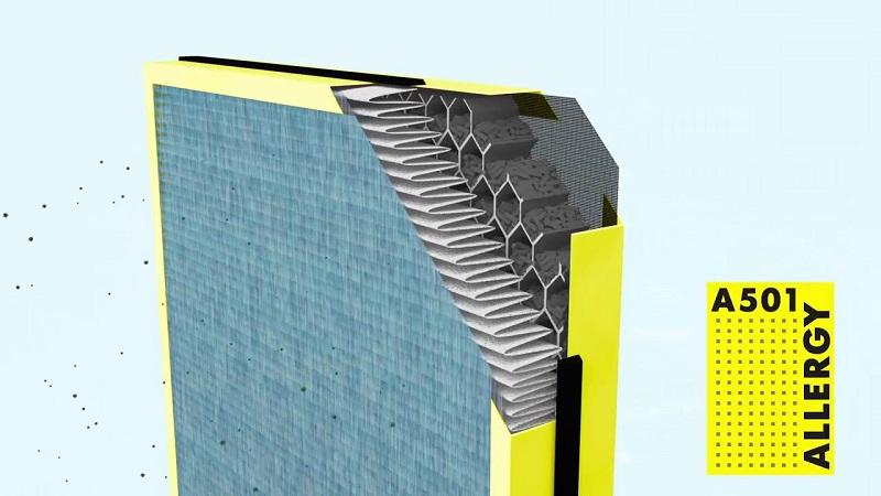 Bộ lọc không khí BONECO A702 là một tập hợp từ nhiều màng lọc đặc biệt