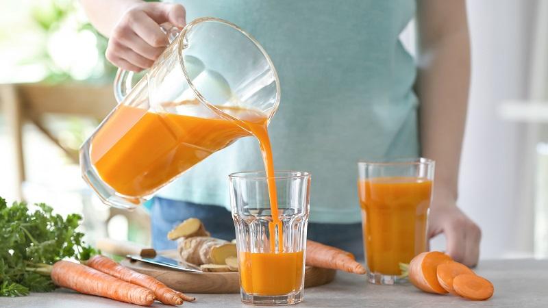 Nước ép cà rốt giàu dinh dưỡng