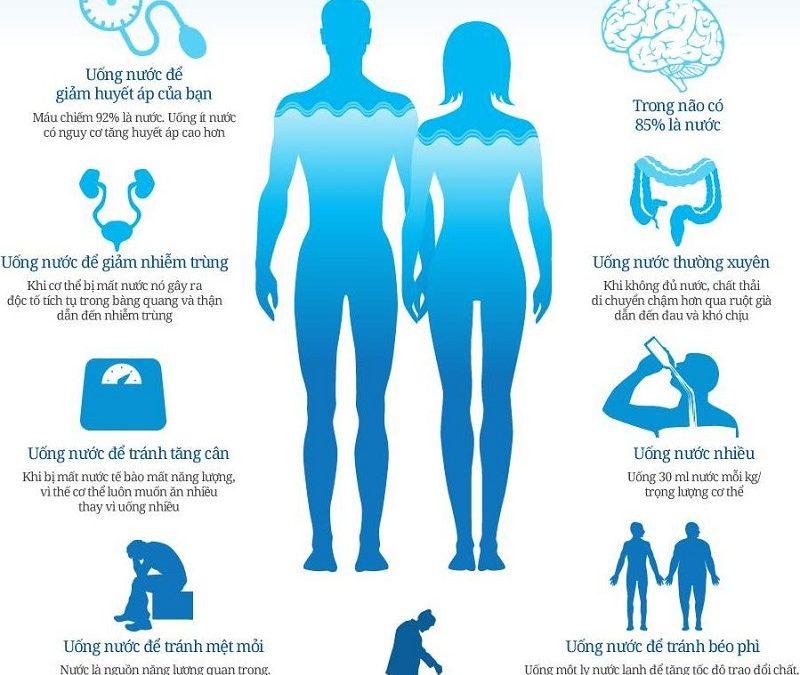 Uống đủ nước giúp ngăn chặn rất nhiều những căn bệnh khác nhau