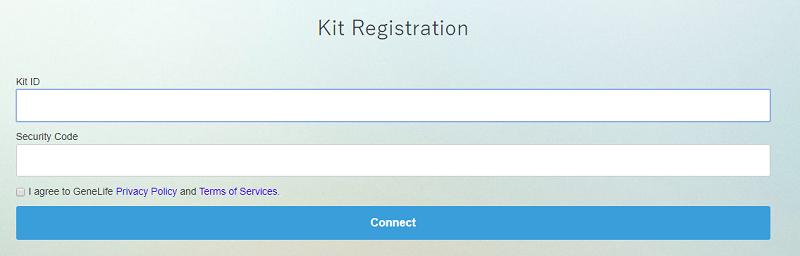 Điền ID và Security và form Kit Registration