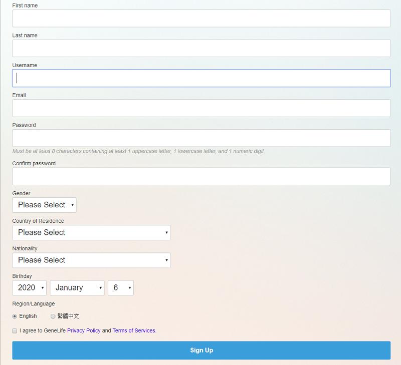 Khách hàng cần điền đầy đủ thông tin vào form đăng ký