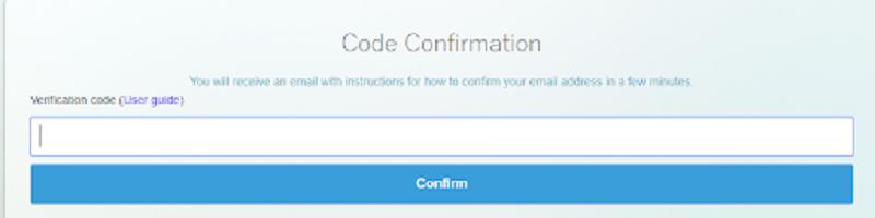 Nhập đúng mã code đã được gửi về email