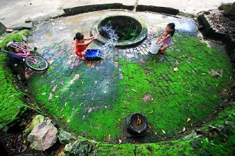 Giếng nước vẫn được sử dụng rất nhiều
