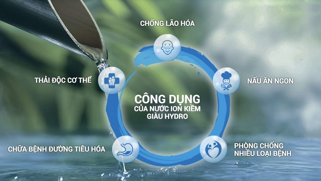 Dòng nước ion kiềm mang đến sự chất lượng và an toàn cho sức khỏe