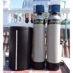 Máy làm mềm nước Rainsoft điện tử EC4 Cab 100 SS CV – 2 in 1 (Resin + muối hoàn nguyên)