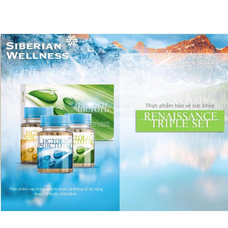 Siberian Health: Thanh lọc cơ thể với Renaissance Triple Set