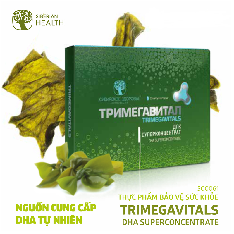 Thực phẩm bảo vệ sức khỏe Trimegavitals. DHA Superconcentrate