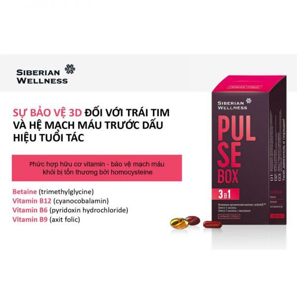 Thực phẩm chức năng Pulse Box - Cho bạn một trái tim khỏe, lưu thông mạch máu