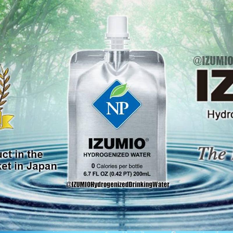 Thùng nước Izumio - Nước Uống Giàu Hydro (30 gói)