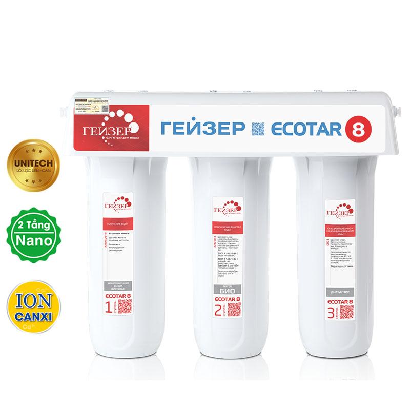 Tổng hợp thông tin về máy lọc nước canxi GEYSER ECOTAR 8 của Nga