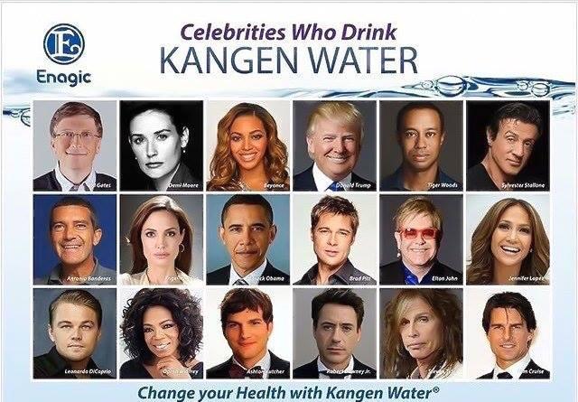 Những ngưởi nổi tiêng sử dụng Máy lọc nước Kangen
