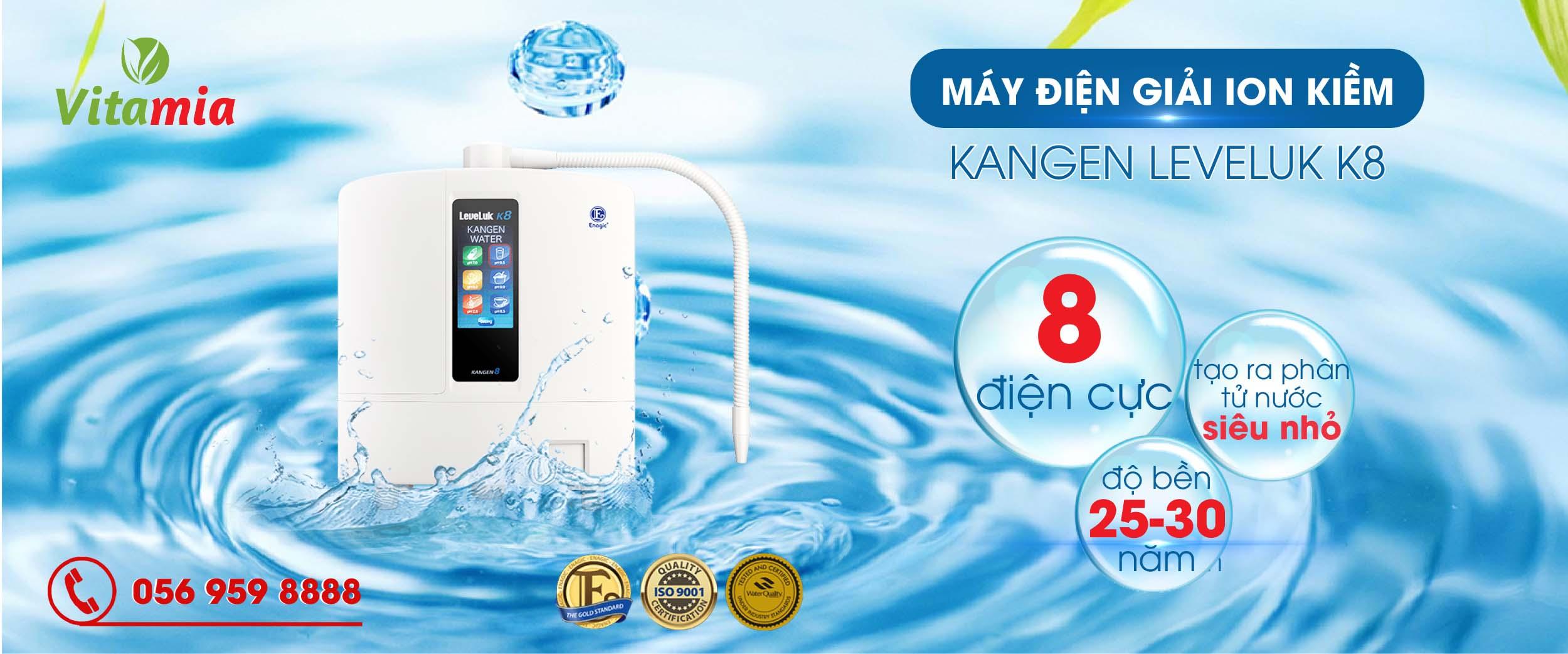 Máy lọc nước ion kiềm Kangen Leveluk K8