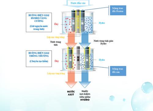 Công nghệ điện giải kép của máy lọc nước trim ion